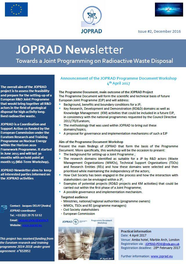 Joprad: JOPRAD Newsletter #2